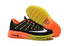 Большой Nike Air Max 2016 Продажа Оранжевый Желтый Черный оптом в интернет-магазине