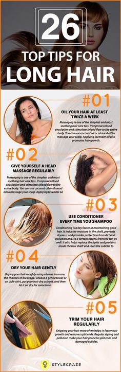 26 Top Tips For Long Hair – A Definitive Guide - Long, gorgeous,& healthy tresses are every girl's dream, but most of us end up hating our dull and lifeless hair. Here are home remedies for long hair, simple yet effective - Cute Hairstyles For Kids, Long Face Hairstyles, Trendy Hairstyles, Girl Hairstyles, Hair Remedies For Growth, Hair Growth, Long Hair Remedies, Natural Hair Cuts, Natural Hair Styles