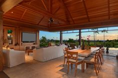 Sunset view from this Bali Pavilion in Hawaii | Smith Brothers