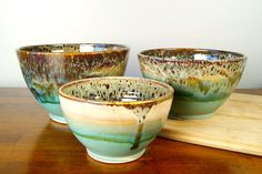 Ceramic Nesting Bowls / Ready to Ship / by RiverStonePottery, $80.00