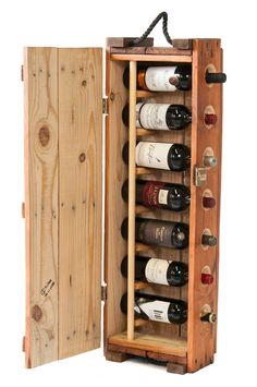 wine rack made from an authentic US Army ammunition box