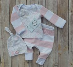 Baby girl coming home outfit//Vintage inspired floral + light pink stripes by LilTrendiesBoutique on Etsy https://www.etsy.com/listing/261218432/baby-girl-coming-home-outfitvintage