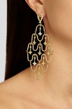 Loree Rodkin|Wave 18-karat gold diamond earrings|NET-A-PORTER.COM