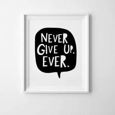 Kids wall art nursery print Never Give Up, Never! Nursery printable art for kids room decor by Mini Learners. - High quality PDF and JPEG files - Sizes 8 x10 - Instant download - Colors depicted on your screen may be slightly different from the actual print. PLEASE NOTE: You are purchasing a digital file only. NO PRINTED MATERIALS OR FRAME ARE INCLUDED! The files will be delivered electronically. Within minutes of your order and payment, an email will be sent to the address you have…