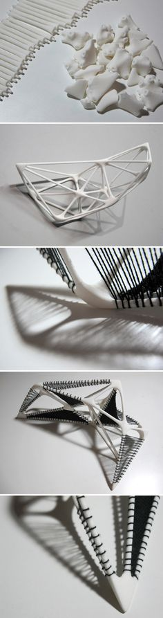 Woven #3DPrinted Armature by @Bi-Ying Miao of Hot Pop Factory and Ozana Gherman. #HandandMachine