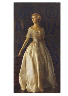 Portrait of Miss Mona Sayer by Frank Cadogan Cowper, c. 1936