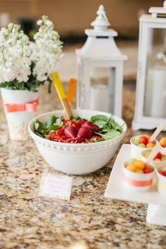 Strawberry Spinach Salad :: Perfect for a Mother's Day Brunch! Find the recipe here: http://www.hgtv.com/holidays-and-entertaining/strawberry-almond-spinach-salad-recipe/index.html