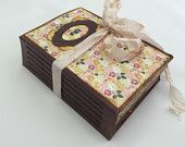 Wish Floral Journal, Tea Dye Journal, Rustic Journal, Mini Album