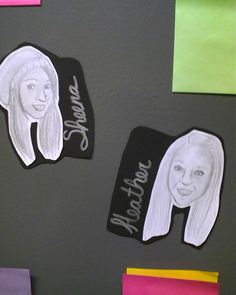 These were my door decs for March, last year.    I hand illustrated/drew a portrait of every one of my residents.   The month's theme was about loving yourself, so I felt having a nice portrait made sense.  (:     They loved them!  They had a lot of fun going around to everyone's door to see if they all looked like each other. :D