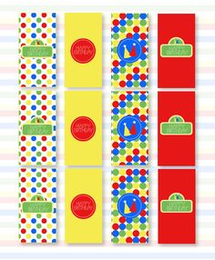 Sesame Street Inspired Party PRINTABLE Mini Candy Bar Wrappers by Love The Day.