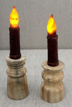 Spalted Magnolia Candle Holder Pair with Flameless candle by WrenSongWoods on Etsy Candlestick Holders, Candlesticks, Magnolia, Unique Jewelry, Handmade Gifts, Etsy, Black, Wood, Candle Holders