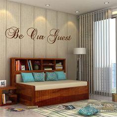 Buy Savannah Sofa Cum Bed With Storage (King Size, Honey Finish) Online in India - Wooden Street Wooden King Size Bed, Alcove Bed, Wooden Street, Beds Online, Bed Storage, Sofa Design, Multifunctional, Savannah Chat, Space Saving
