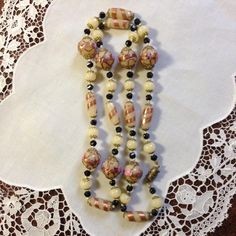 Art Deco Murano Glass Wedding Cake Necklace
