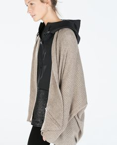 RIBBED WRAP CARDIGAN from Zara. Can't wait for fall