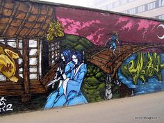 Milano   I took this pic in 2008 in Via Schiaffino, now the work is faded by exposure to the elements and the wall will be soon demolished.