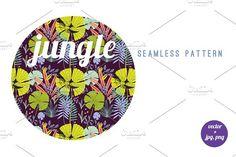 Tropical jungle seamless pattern. Patterns. $5.00