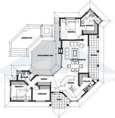 House Furniture Design, House Design, African House, Fantasy House, Modern House Plans, Floor Design, Farm House, Modern Architecture, Bamboo
