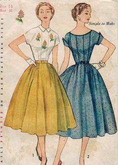 simplicidad de la década de 1950 3926 costura por midvalecottage