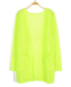 Neon cardigan? I think so.