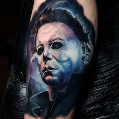 It's Not Really Halloween Without Some More Michael Myers Tattoos Skull Rose Tattoos, Lion Head Tattoos, Boy Tattoos, Body Art Tattoos, Sleeve Tattoos, Tatoos, Text Tattoo, I Tattoo, Indian Feather Tattoos