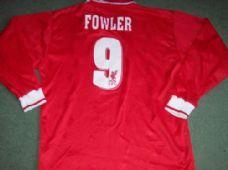1996 1998 Liverpool #RobbieFowler #9 L/s Medium 1996 1998 Football Shirt Top