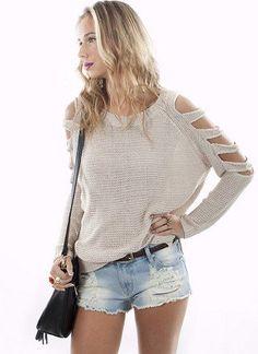 Cutout Knit by Aryn K | Trendy Sweaters | MessesOfDresses.com