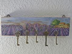 Hakenleiste, Schlüsselbrett, Lavendel Herbstlook von SchlueterKunstundDesign - Wohnzubehör, Unikate, Treibholzobjekte, Modeschmuck aus Treibholz auf DaWanda.com
