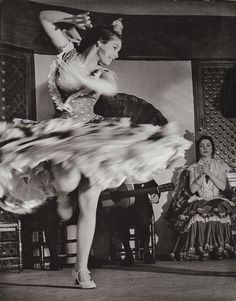 Anonymous Photographer - Gypsy dancer, Spanish, Flamenco, 1956. Homage to Paco de Lucia