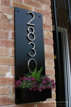 s 11 quick and easy curb appeal ideas that make a huge impact, curb appeal, Make an address plaque planter