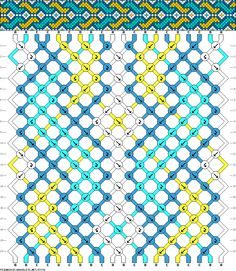 Friendship Bracelet Pattern 57076