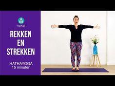 Rekken en strekken yoga - YouTube Yoga Gym, Tai Chi, Pilates, Stress, Exercise, Workout, Education, Youtube, Dna