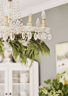 pretty holiday chandelier