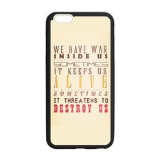 Divergent Quotes Yellow Case for iPhone 6 Plus