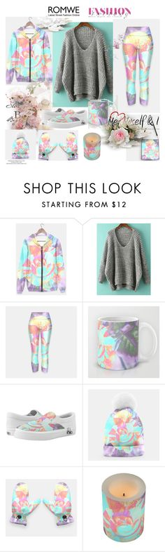 """Romwe V-Neck Sweater"" by stine1online ❤ liked on Polyvore"