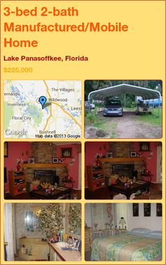 3-bed 2-bath Manufactured/Mobile Home in Lake Panasoffkee, Florida ►$225,000 #PropertyForSale #RealEstate #Florida