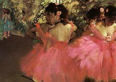 Edgar Degas - Dancers in Pink  Degas was a French artist famous for his work in painting, sculpture, printmaking and drawing. He is regarded as one of the founders of Impressionism.