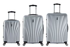 InUSA Chicago Collection 3piece Lightweight Hardside Spinner Luggage Set  Silver -- You can get additional details at the image link.