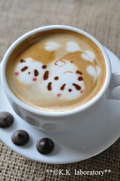 panda cafe latte