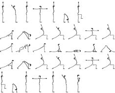 yoga stick figure learning charts  yoga stick figures