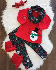 Silent Night Snowflake 3pc Scarf Set #boutique-outfits #new #perfect-sets