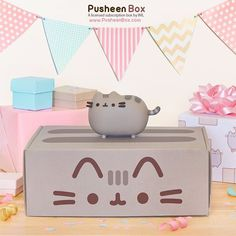 """""""Introducing Pusheen Box!  Pusheen Box is a licensed subscription box delivering a surprise assortment of first edition and exclusive Pusheen merch every 3…"""""""