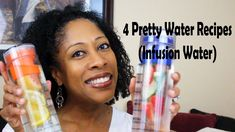 4 Pretty Water Infusion Recipes - prepare these four favorite infusion water recipes, drink more water and stay hydrated.