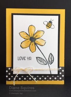 ideas flowers watercolor easy stampin up Scrapbook Cards, Scrapbooking, Bee Cards, Hand Stamped Cards, Pretty Cards, Card Sketches, Paper Cards, Creative Cards, Flower Cards