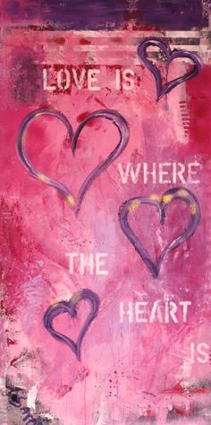 Customized Abstract Art: Love is where the heart is
