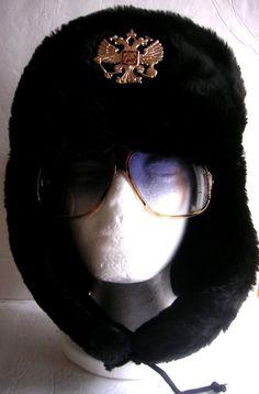 Vintage Fur Hat Russian Faux Fur Hat  Ushanka Coat of by QVintage, $35.00