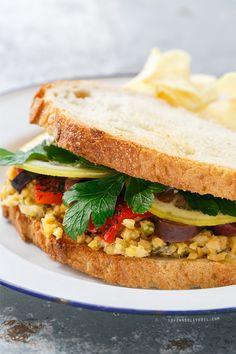 Marinated Chickpea Sandwiches
