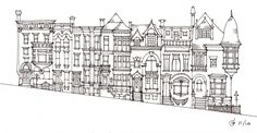 So many of the urban sketches featured in this blog article are lovely, but I like this one the most. All at once simple and detailed. Artist: James Anzalone