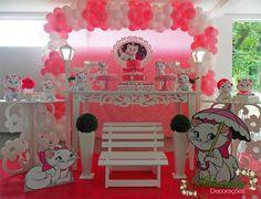 Aluguel Decoração Gata Marie Tema Completo - http://www.adornardecoracoesfestas.com.br/aluguel-decoracao-gata-marie-tema-completo-2/