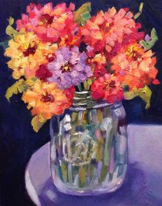 """Southern Garden Style"" original fine art by Libby Anderson"