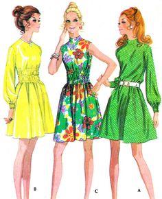 1970s Dress Pattern McCalls 2386 Boho Gathered by paneenjerez, $10.00